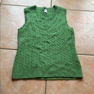 3/$30 J. Crew Merino Blend Cable Knit Sweater Vest